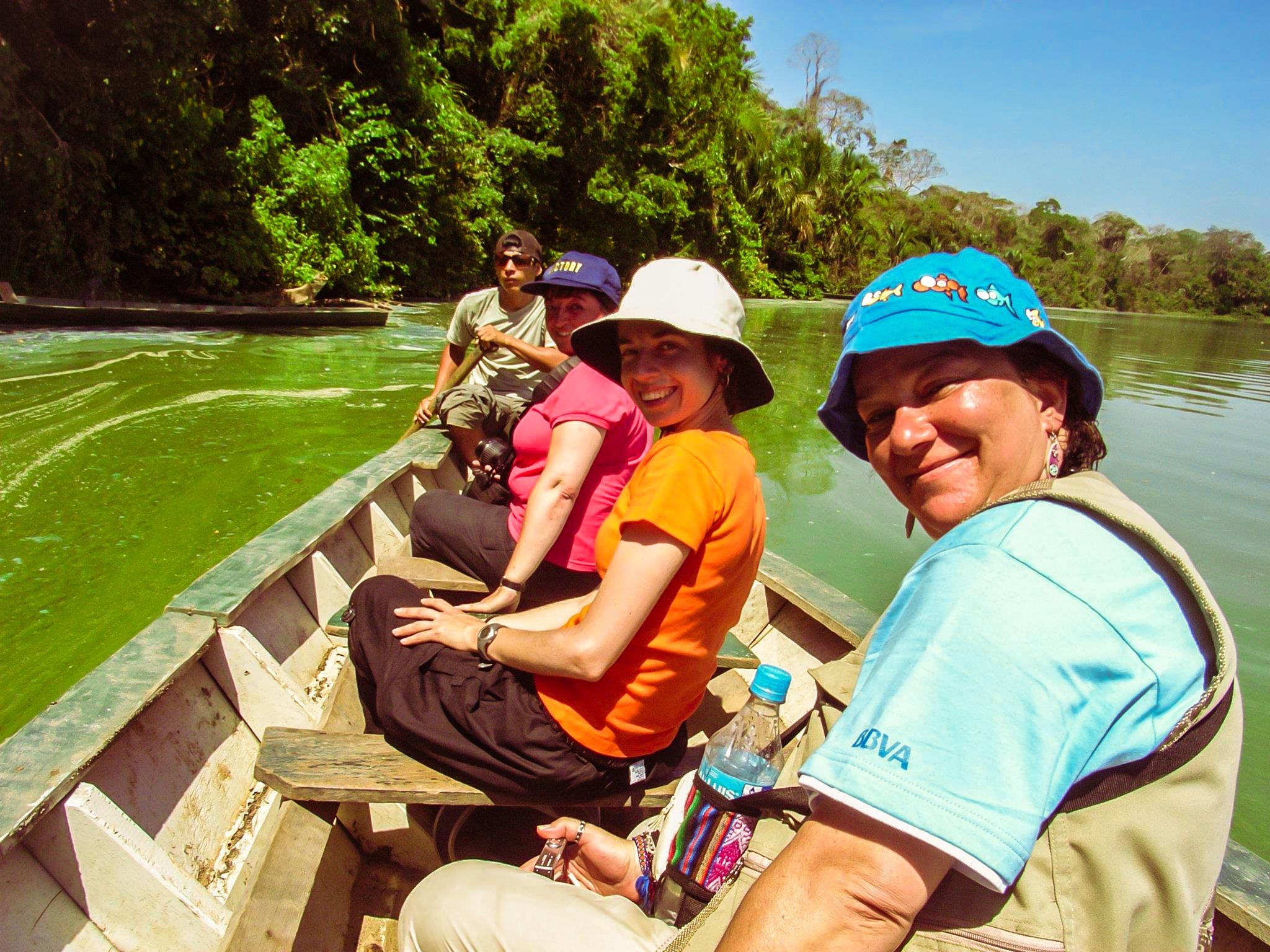 Amazon jungle lake Peru